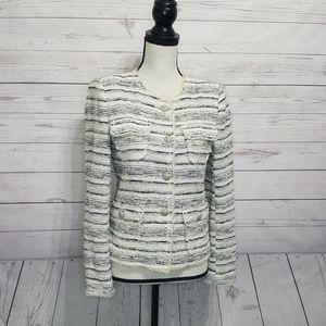 ZARA WOMAN Tweed Blazer | Small